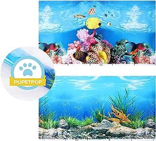 61 * 30cm Mumusuki Cartel de Acuario Submarino Coral Marino Tanque de Peces Cartel de Fondo Espesar PVC Adhesivo Est/ático Adhesivo Tel/ón de Fondo Papel Decorativo Adhesivos Adhesivos