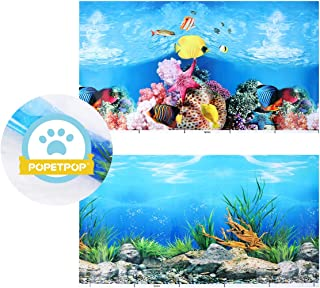Aquarium Background Poster Fish Tank Backdrop Pvc Adhesive Underwater Coral Reef Decor Paper Cling Decals Sticker