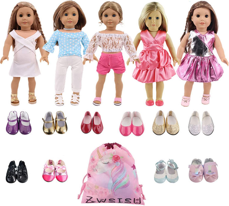 ZWSISU American 18 Baltimore Mall inch Girl Doll Financial sales sale Outfits 7 Dre = Princess Lot 5