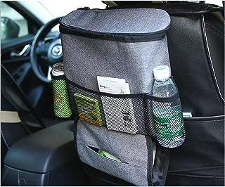 Westspark Car Seat Back Heat Insulation Organizer, Auto Back Seat Hanging Cooler Bag Travel Storage Multi- Pocket Heat-Preservation Insulated Wrap Bottle Bag with Mesh Pockets