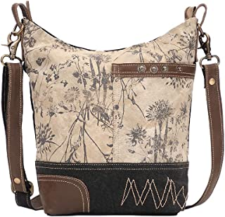 Solidaster Upcycled Canvas & Leather Shoulder Bag S-1525
