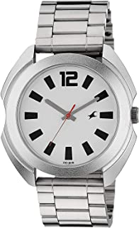 Fastrack Casual Watch for Men, Analog, Stainless Steel, 3117SM01
