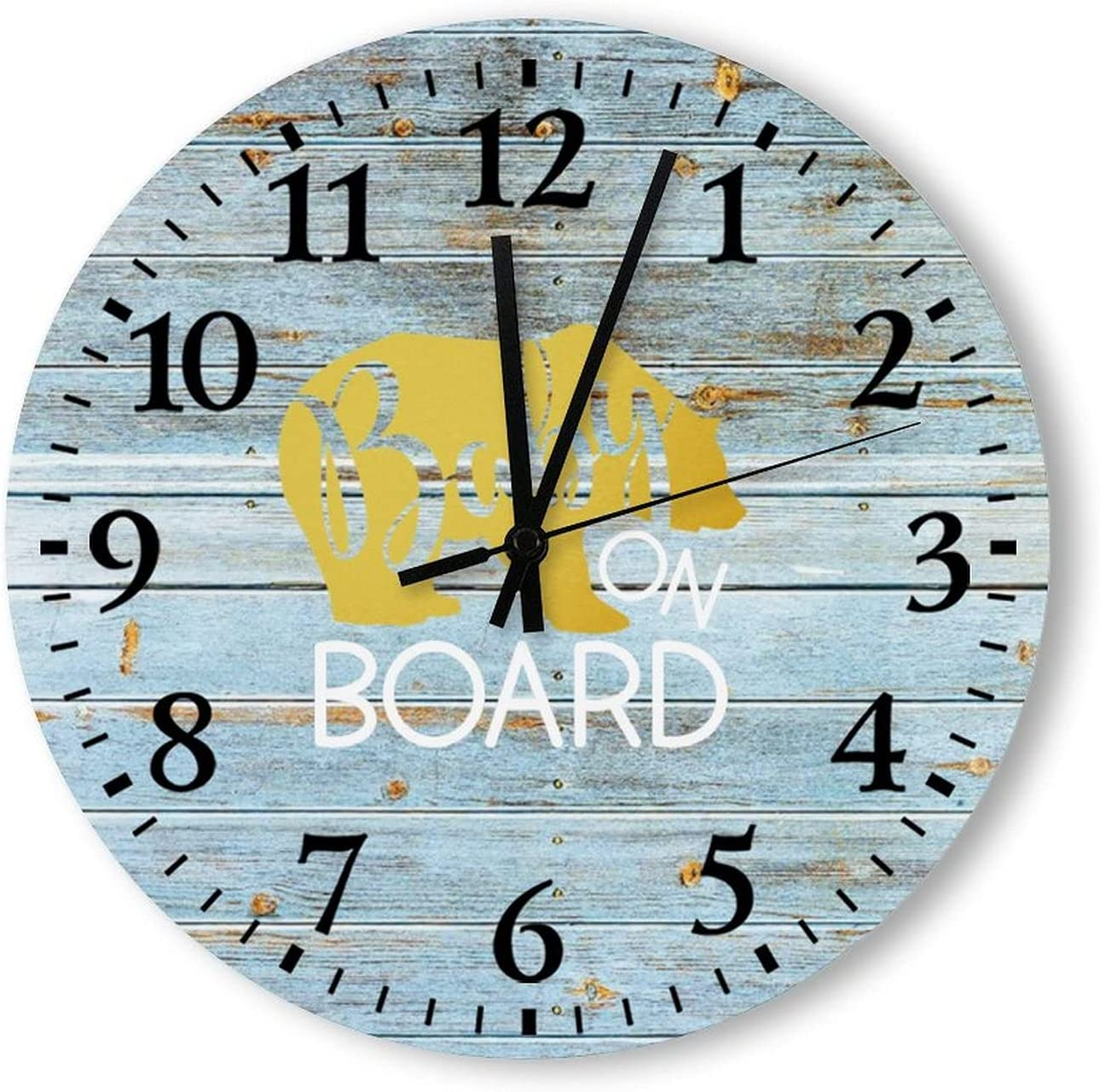 by Unbranded Wood Panel Wall Beauty products Clock On Board Baby Newbo Nashville-Davidson Mall Boy