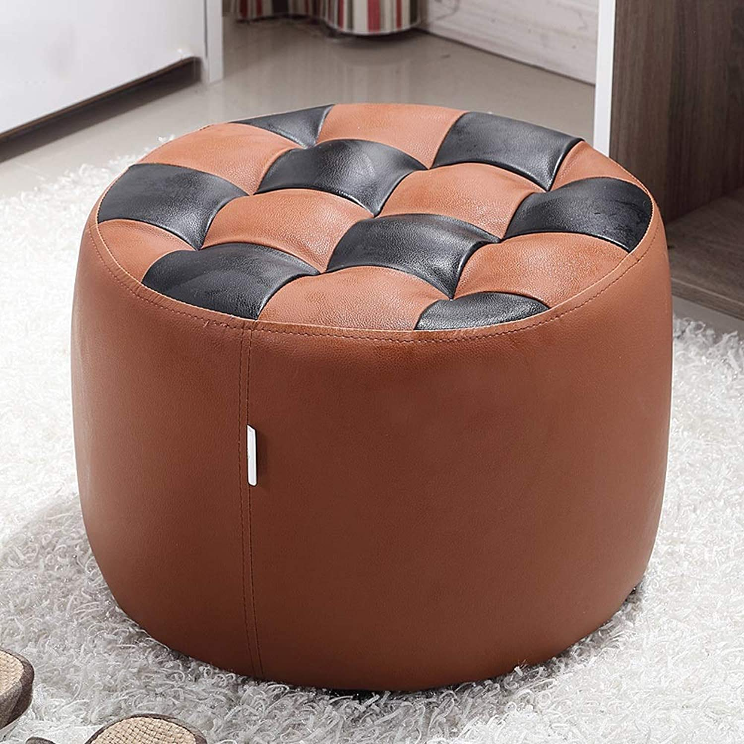 LLYU Solid Wood shoes Bench Sofa Stool Dressing Stool shoes Bench Simple Modern Small Round Stool Bedroom Living Room (color   E)