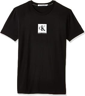 Calvin Klein Mens Center Monogram Box Slim T-Shirt