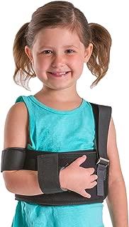 BraceAbility Pediatric Shoulder Immobilizer | Child Size Arm Sling Stabilizer for Broken Collarbone & Shoulder Injuries - Fits Toddlers, Kids, Youth & Teens (20