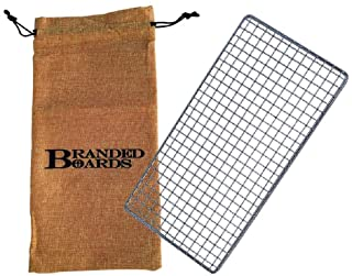 Branded Boards Bushcraft Stainless BBQ Grill Grate, Eco-Friendly Bamboo Cutting Board, Burlap Hemp Drawstring Bag, Mini Ca...