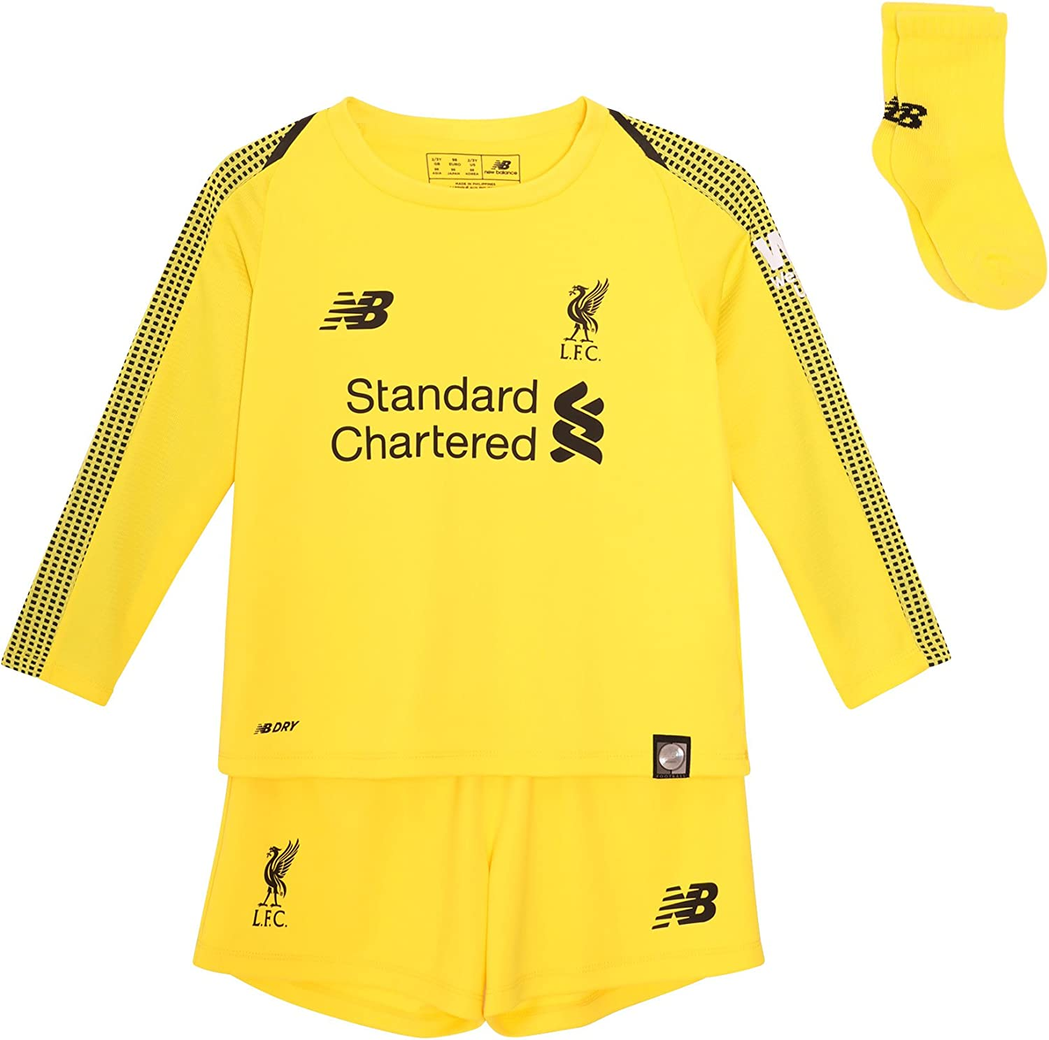 New Balance Liverpool FC Home Kit 2018 2019 Yellow Baby Soccer Goalkeeper Kit LFC Official Store
