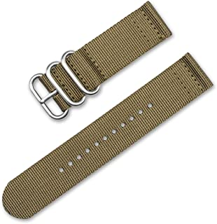deBeer Military Ballistic Nylon 2-Piece Watch Band/Watch Strap - 11 Colors - (Sizes - 18mm, 20mm, 24mm)
