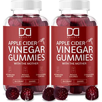 Apple Cider Vinegar Gummies with The Mother for Immune System Vitamin B12, B9, Pomegranate - Gummy Alternative to Apple Cider Vinegar Capsules, Pills, ACV Tablets - 120 Gummy Bears (2 Pack)