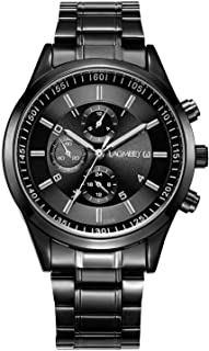 Men's Watches with Black Face Fashion Wrist Watch for Men