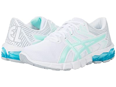 ASICS Kids GEL-Quantum 90 2 (Big Kid) (White/Fresh Ice) Girls Shoes