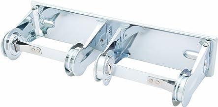 "Bradley 5224-000000 Heavy Duty Steel Tension Spring Control Dual Roll Toilet Tissue Dispenser, 12-3/8"" Width x 2-3/4"" Heig..."