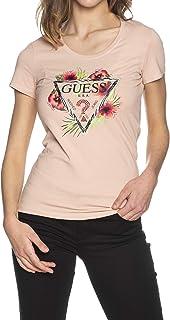Guess Camiseta Rosa de Manga Corta con Flores para Mujer W1GI0NJ1311-G64O