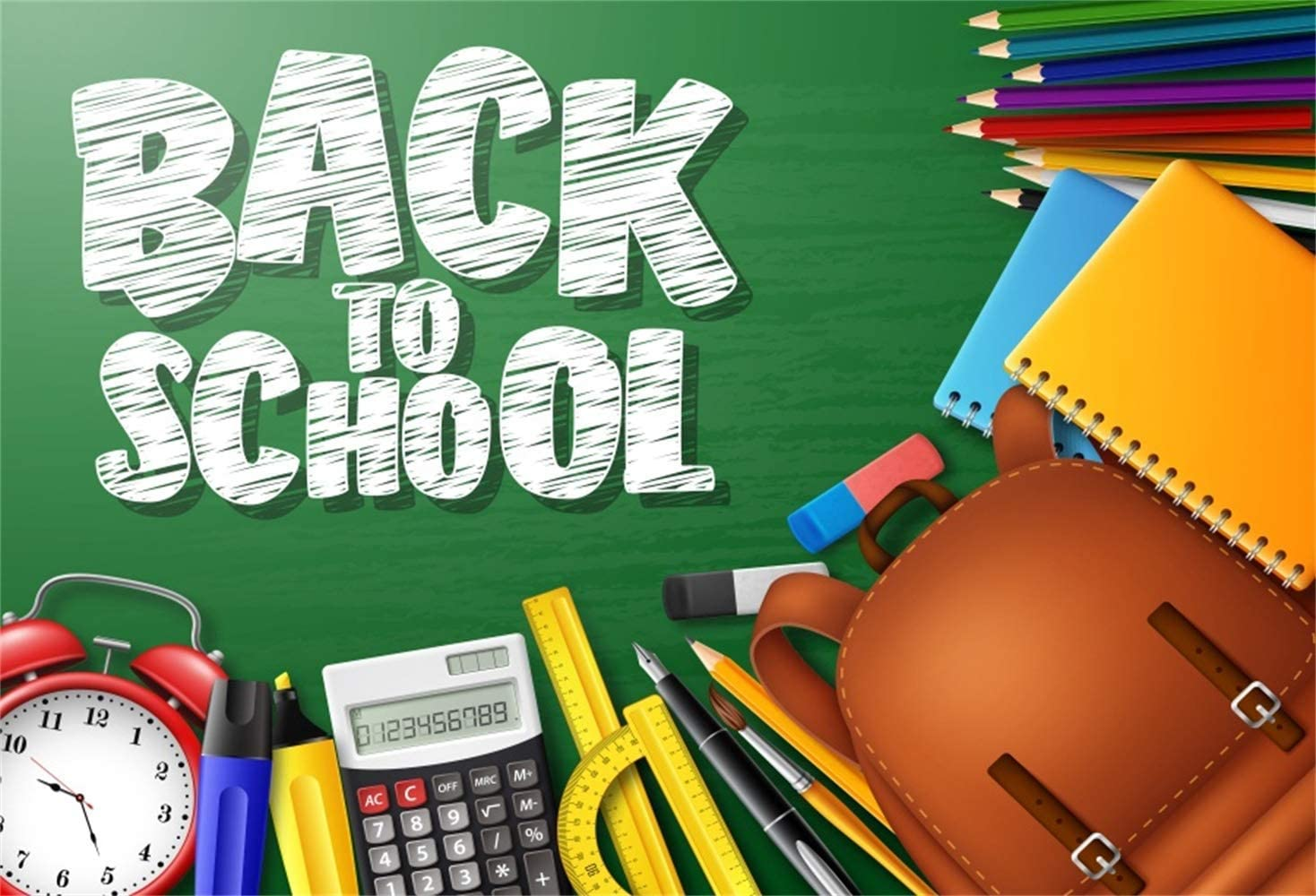 5x3ft Photography Background Back to School Black White Stripes Letters Photo Backdrops Schoolbags Blackboard Learning Tools Photo Backgrounds Students Children Photo Shooting Props