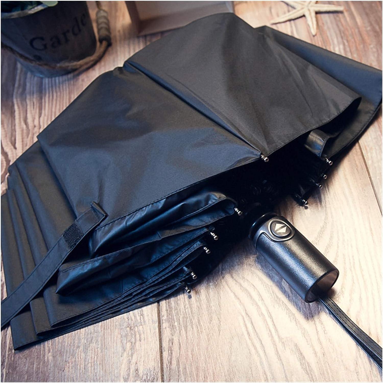 YINGBBH Umbrella Automatic Three Folding Mail order cheap Men's Stripe B New life