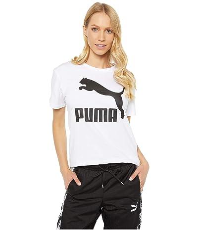 PUMA Classics Logo Tee (PUMA White) Women