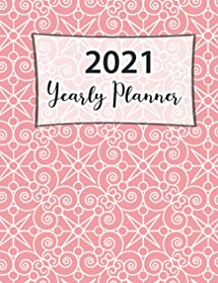 2021 Yearly Planner: Academic Writing for To Do's and Appointments and Productivity Planner for Goal Setting Fitness Tips...