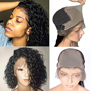 Venice Hair Fake Scalp 13x6 Lace Front Human Hair Wigs for Black Women 150% density Virgin Curly Human Hair Wigs with Fake Scalp Pre Plucked Baby Hair New Arrivals (12inch)