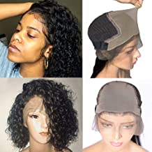 Venice Hair Fake Scalp 13x6 Lace Front Human Hair Wigs for Black Women 150% density Virgin Curly Human Hair Wigs with Fake Scalp Pre Plucked Baby Hair New Arrivals (14inch)