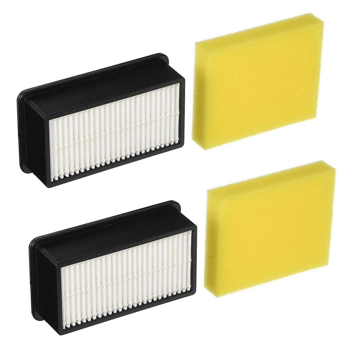 2 Pre-Motor Foam Filter and 2 Post-Motor Filter Replacement Filter Kit for Bissell 1008 CleanView Vacuums pwbtefdviqfaw4