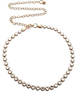 Vritraz Women and Girl Fashion Metal Stretchable Gold Plated Belly Chain Waist Belt Jewellery kamarband Waistband