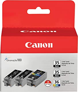 Canon PGI-35/CLI-36 2 Black and 1 Color Value Pack Compatible to iP100, iP110