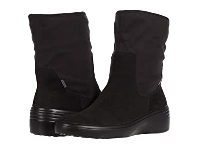 ECCO Soft 7 Wedge Mid GORE-TEX(r) Boot (Black/Black) Women