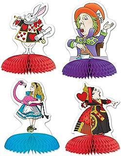 Beistle Alice in Wonderland Mini Centerpieces 5-Inch (4-Units)