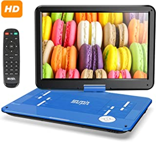 """SUNPIN 17.9"""" Portable DVD Player with 15.6 inch Large HD Swivel Screen, Long Lasting Rechargeable Battery, Support USB/SD ..."""