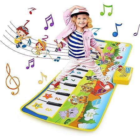 NEWSTYLE Juguetes Niños 2 Años, Alfombra Musical, Grande Alfombra Infantil, Touch Alfombra Musical Teclado, Alfombra de Piano Actividad Juego De ...