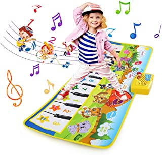 NEWSTYLE Alfombra Musical, Musical Tapete para Bebé, Teclado Alfombra de Piano de Suelo, 8 Instrumentos Sonido Baile Tapet...
