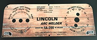 Lincoln Arc Welder Control Plate Wood Background Face Plate, M10926