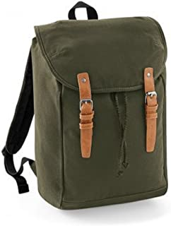Quadra Vintage Rucksack/Backpack (UK Size: One Size) (Military Green)