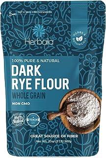 Rye Flour 2lb / 32oz, Dark Rye Flour for Bread, Pumpernickel Flour, Rye Bread Flour, Rye Flour for Baking, 100% Whole Rye ...