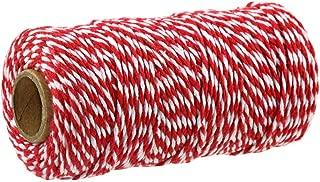 Baker/'S Guita Rojo 100m longitud 2mm de espesor 100/% algodón