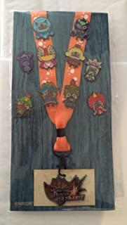 Capcom Monster Hunter 4 Ultimate Orange Lanyard & Pin Set Badge ID Holder