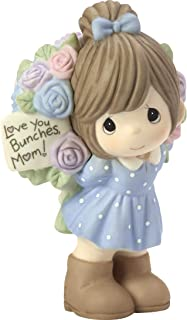 Precious Moments Love You Bunches Mom Girl Bisque Porcelain 183004 Figurine, One Size, Multi