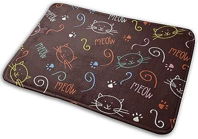 """Cartoon with Cute Cats Doormat Non Slip Indoor/Outdoor Door Mat Floor Mat Home Decor, Entrance Rug Rubber Backing Large 23.6""""(L) x 15.8""""(W)"""