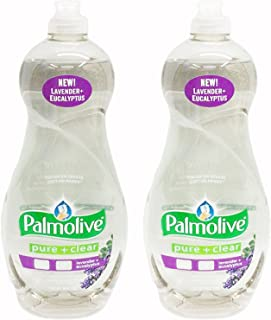 Palmolive Ultra Dishwashing Liquid, Pure and Clear Plus Lavender, 38 Ounce (Pack of 2)
