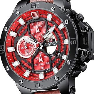 Men Sports Watch Luxury Waterproof Chronograph Quartz Military Watches Fashion Business Leather Wrist Watch