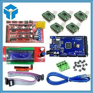 AiCheaX - 3D Printer kit Mega 2560 R3 RAMPS 1.4 Controller 5pcs A4988 Stepper Driver Module 2004 Controller for 3D Printer Part Parts