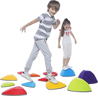 Special Supplies Stepping Stones for Kids Indoor and Outdoor Balance Blocks Promote Coordination, Balance, Strength Child Safe Rubber, Non-Slip Edging