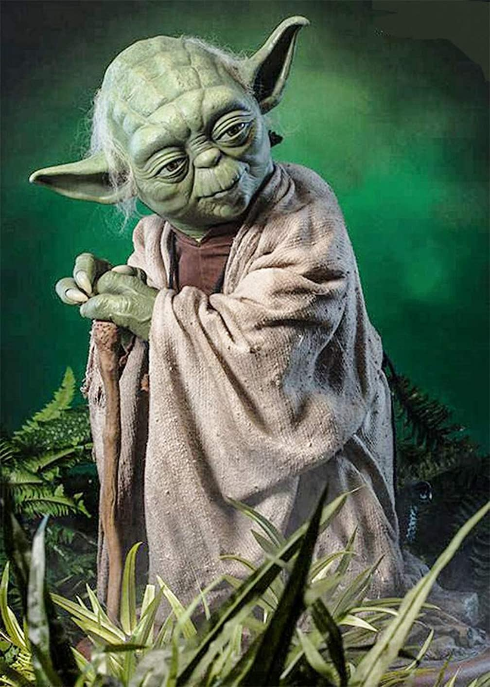Star Wars Full Drill Diamond Painting 5D DIY Diamond Embroidery Cross Stitch Crystal Rhinestone Art Craft Movie Pictures Mosaic Painting Home Wall Decoration,Master Yoda C (20X28inch/50X70cm)