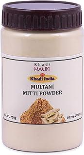 Khadi Mauri Herbal Multani Mitti Powder - Lightens & Brightens Skin, Fights Spots & Boosts Glow - 200 g