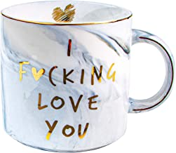 VILIGHT Girlfriend Boyfriend Gifts I Love You Mug for Him Her - Funny Presents Ideas for Husband Wife - Marble Coffee Cup ...