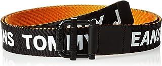 Tommy Hilfiger Men's TJM Roller Webbing 3.5 Reversible Belt, Multicolour (Black/Russet Orange 901), 105