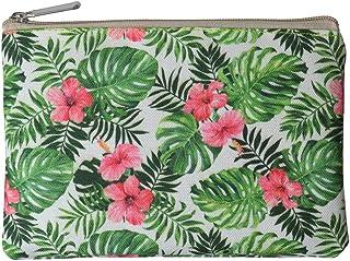 ALAZA Hawaiian Palm Tree Flower Summer PU Leather Passport Holder Cover Case Travel One Pocket