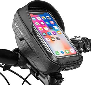 ROCKBROS自転車 スマホホルダー トップチューブバッグ 防水 自転車バッグ ハンドルバッグ 6.2インチスマホ対応 防圧 防塵 遮光 耐磨耗性 大型機 iPhone 12 11Pro Max XS 8plus/galaxy s8 s9/H...