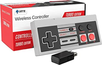 Ortz NES Classic Wireless Controller [Turbo Edition] Rapid Buttons for Nintendo Gaming System [Nintendo NES Edition] (Wireless)